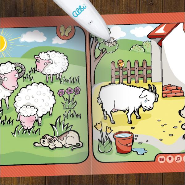 Albi Kúzelné čítanie - kniha Zvieratká na farme