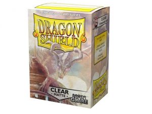 Sleeves Dragon Shield Standard - Matte NON-GLARE Clear - 100ks