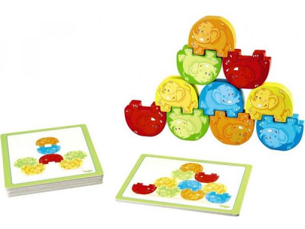 Balančná hra drevená - Wigglefants stacking game