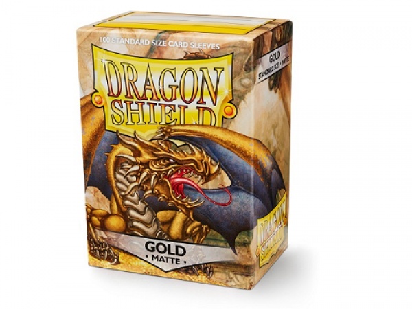 Sleeves Dragon Shield Standard - Matte Gold - 100ks