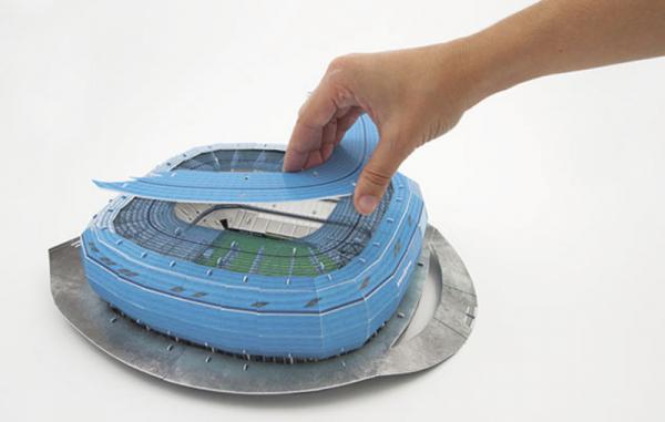 NANOSTAD: 3D puzzle - Allianz Arena modrá