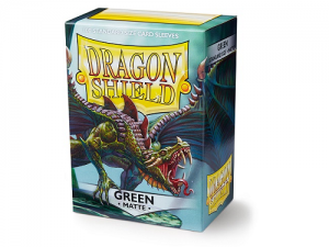 Sleeves Dragon Shield Standard - Matte Green - 100ks