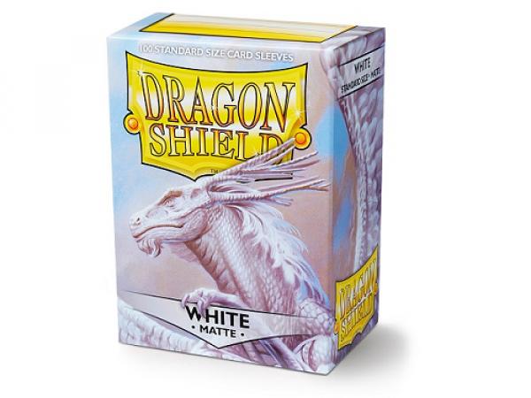 Sleeves Dragon Shield Standard - Matte White - 100ks