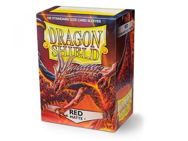 Sleeves Dragon Shield Standard - Matte Red - 100ks