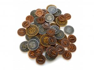 Sada univerzálnych kovových mincí (50 ks)