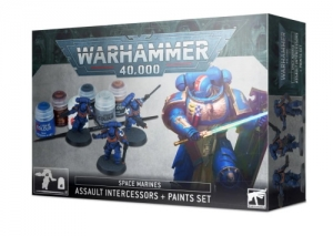 Warhammer 40.000: Space Marines Assault Intercessors + Paint Set