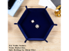 Hexagon Folding Dice Tray Blue
