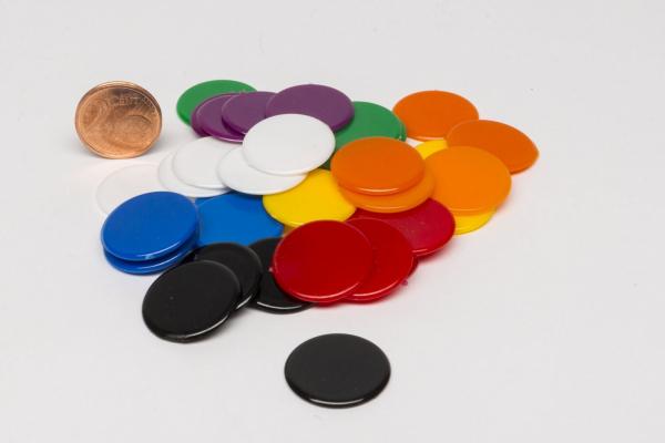 Sada 40 kusov plastových diskov 20mm