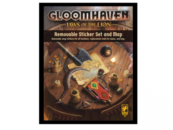 Gloomhaven - Jaws of Lion Removable Sticker Set & Map