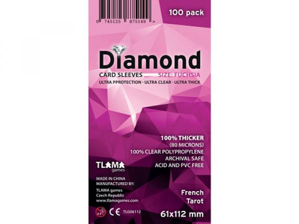 Obaly na karty Diamond Fuchsia: French Tarot (61x112 mm)