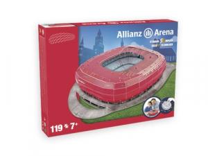 NANOSTAD: 3D puzzle - Allianz Arena červená