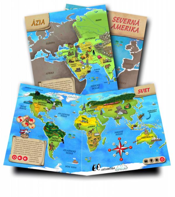 Albi Kúzelné čítanie - kniha Atlas sveta