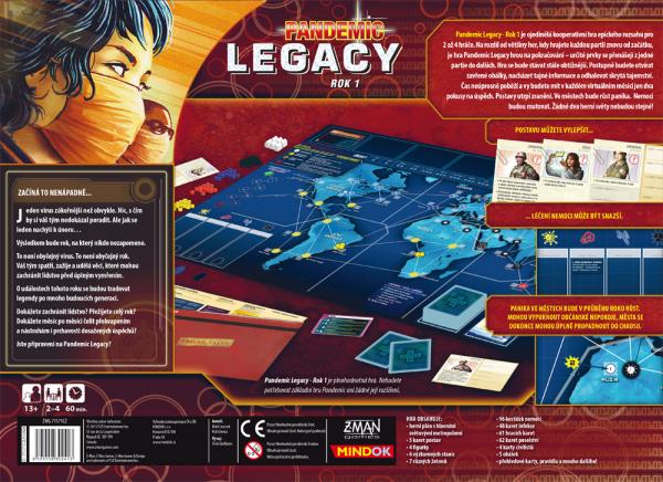 Pandemic Legacy Rok 1 červený