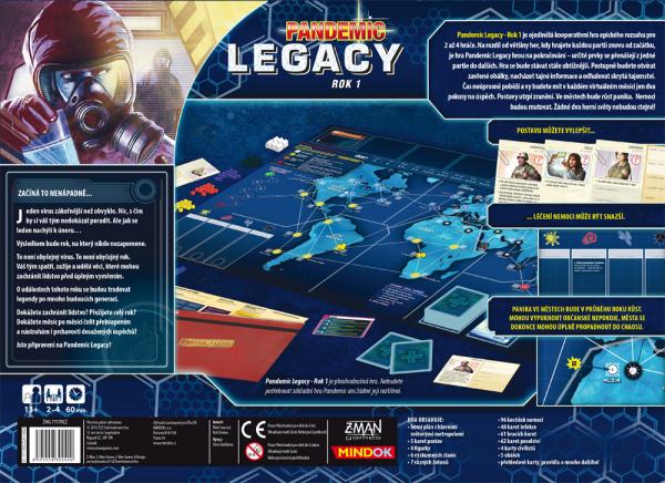 Pandemic Legacy Rok 1 modrý